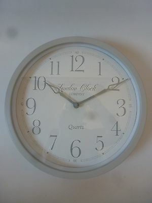 """London Clock Company """"Alice"""" Heritage Collection White Metal Wall Clock 30cm"""