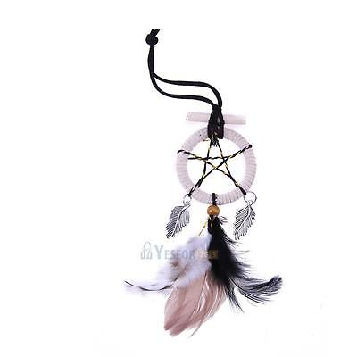 Mini Dream Catcher Feather Car Home Wall Hanging Decor Craft Gift Pendant #3YE