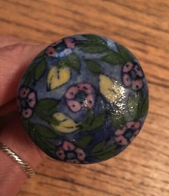Lot 3 Cornell Trading USA Floral Ceramic Pull Knob Door Drawer Hand Painted $30