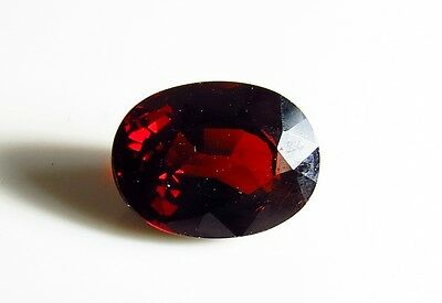 10x7mm NATURAL RED GARNET OVAL CUT FACETED GEMSTONE - CUT FROM NATURAL ROUGH