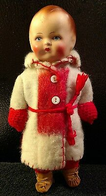 "Vintage/Antique doll 12"" Papier-mache?"