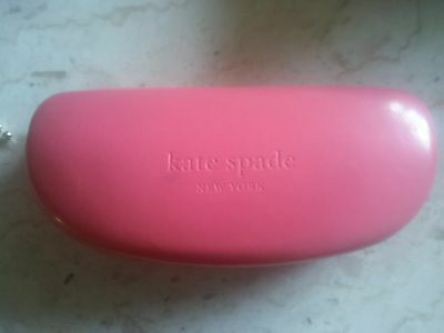 pink Kate Spade clam shell eye glass case