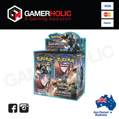 Pokemon Sun And Moon Burning Shadows Booster Box SM02 36 Booster Packs