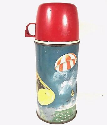 Satellite Space Thermos King Seeley 1963  Bottle 2856 Rust Dent Scratches Metal