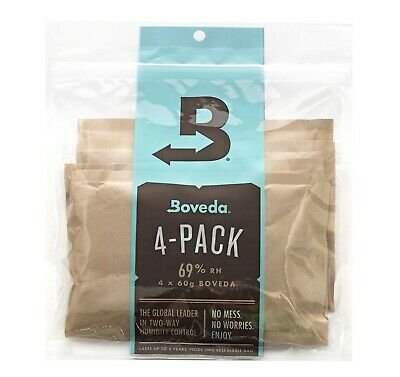 Brand New Boveda 69% Rh 2-Way Humidity Control, Large 60 g, 4 Pack