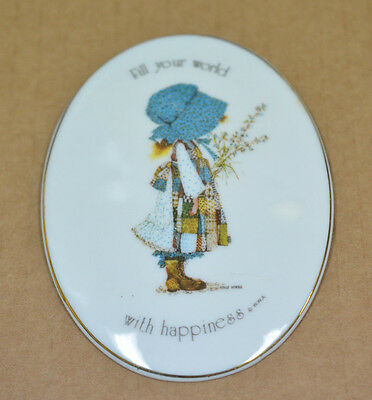 Small Holly Hobbie Fill Your World With Happiness Plaque