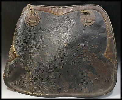 Japanese Antique LEATHER Bagu ( horse tool  / Armour harness