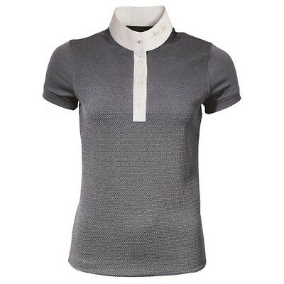 MARK TODD ALICIA LADIES COMPETITION POLO SHIRT GREY short sleeve for women