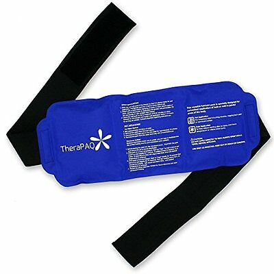 Pain Relief Ice Pack with Strap for Hot & Cold Therapy - Reusable Gel Pack f