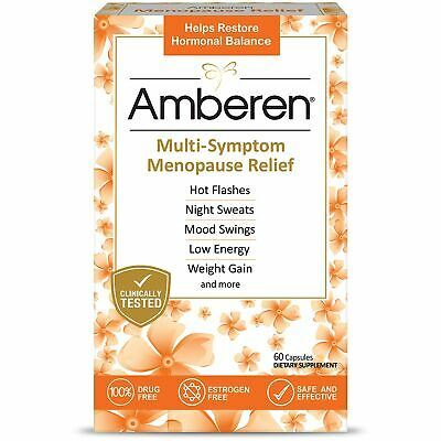 Brand New Amberen Menopause Relief Promotes Hormonal Balance, 60 capsules