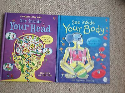 See Inside Your Head & Your Head Usborne Flap Books