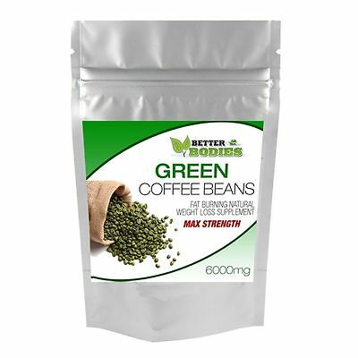 GREEN COFFEE BEAN EXTRACT MAX STRENGTH 6000mg WEIGHT LOSS SLIMMING FAT BURN