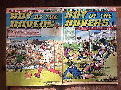 Roy Of The Rovers Comics X 2 - 1979