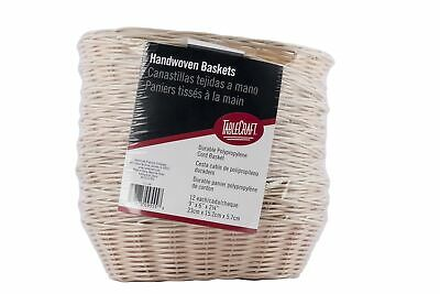 """TableCraft Products C1174W Basket, Oval, Natural, 9"""" x 6"""" x 2.25"""" (Pack of 12)"""