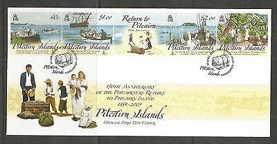 Pitcairn Islands 2009 Pitcairners Return Fdc Sg,779-782 Lot 4367A