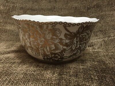 """Multiple Available New 222 Fifth Adelaide Gold Deep Cereal Bowl 5.75"""""""