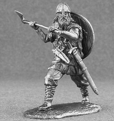 Viking Warrior Toy Norman 1/32 Scale With Axe Infantry Figures Tin Soldiers 54mm