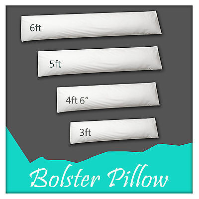 Anti Allergy Bolster Pillow Long Body Support Pregnancy Pillow Duck Feather Fill