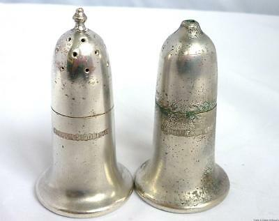 Vintage Silver Plated Elkington Monarchy  Plate 1934 Salt & Pepper Shaker