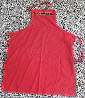 Vintage Dairy Queen Advertising Ice Cream Fast Food Apron ~ Shakes Malts Burgers