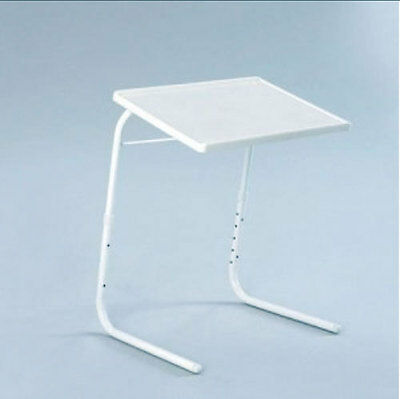 White Portable Valet Table ideal for TV dinners, painting,101 uses New Free Post