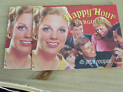 Happy Hour Barguidi 45 Prize Recipes 1960's Southern Comfort Set Of Two Booklets