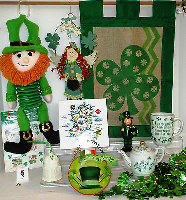 Irish St Patrick's Lot Belleek Lefton Unique Designs + 12 pieces