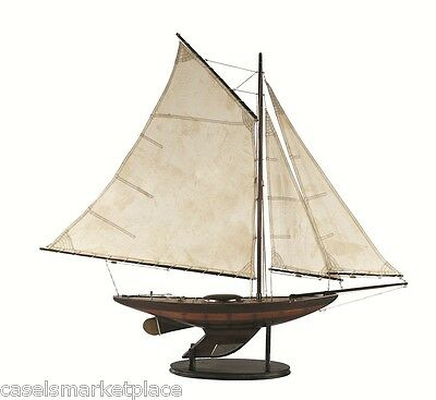AUTHENTIC MODELS Ironsides Small Yacht Nautical Ship / Boat / Sailboat Model