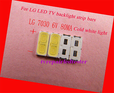 100Pcs 7030 SMD lamp beads 80mA Specially for LG LED TV Repair/Ads Light