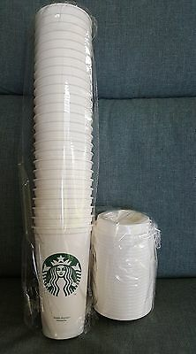 New 25 - STARBUCKS Coffee Reusable Recyclable Plastic Grande 16 Oz Cup with Lid