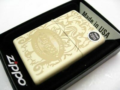 "Zippo Full Size Cream Matte ""An American Classic"" Windproof Lighter 28854"