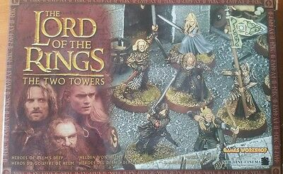 Lord of the Rings Heroes of Helms Deep Boxed 8 Figures metal games workshop