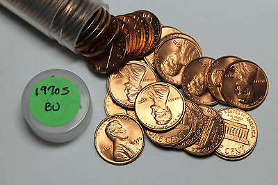 1970 S roll of BU Lincoln cents