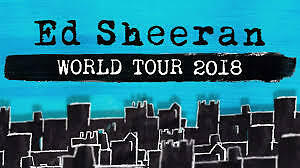 2 Ed Sheeran Top Tickets Stehplatz Pk1 Front Of Stage Berlin 19.07.2018