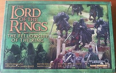Lord of the Rings Boxed Figures metal Mounted Ringwraiths RARE Games Workshop
