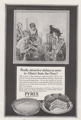 1917 Pyrex Dishes: Really Attractive Dishes To Serve (27927) Print Ad