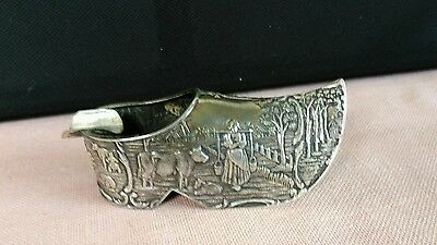 Herbert Hooijkaas Dutch Holland Silver Plate Shoe Ashtray