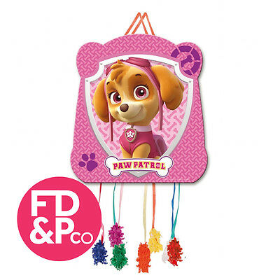 Pink Paw Patrol Childrens Boys Birthday Party Pull String Kids Pinata