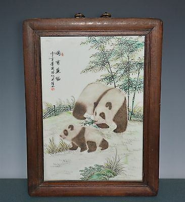 Beautiful Chinese Famille Rose Porcelain Plaque Marked Master Bi Yuanming J9599