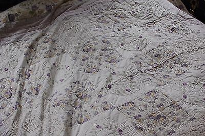 Heavy Quilt - French Style with Ornate Stitching and Patterning - Size: Double