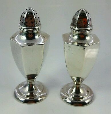 RARE Vtg. Antique William Nost Sterling Silver Salt & Pepper Shakers