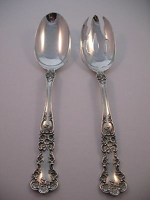 Gorham Buttercup Sterling Silver Pierced & Serving Tablespoon Set  Spoon Salad