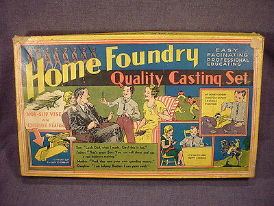 1930S Vintage Home Foundry Quality Casting 5 Soldier Set Nra Emblem On Box