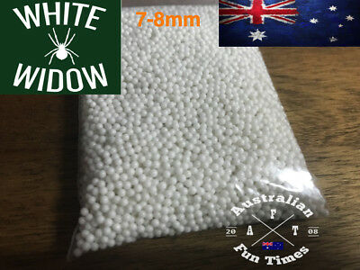 10,000 pcs White Widow 7mm - 8mm HARDENED Gel Ball Ammo Water Gell Toy Blaster