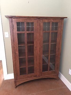 Stickley - Bookcase Solid Mission Oak 46w x 58h x 14d Price $3,700