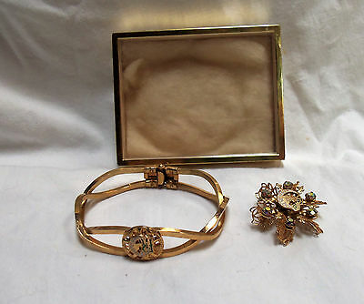 Ioof Daughters Of Rebekah Lodge Bracelet And Pin With Box