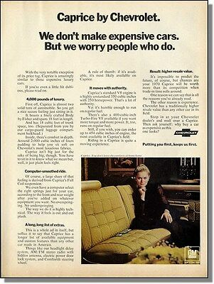 1970 Chevy Caprice - the comforts of home Car-Ad
