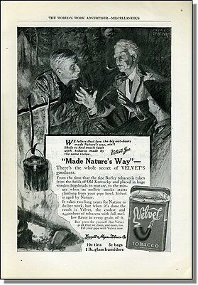 1917 Campfire tales - Velvet pipe tabacco print ad