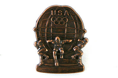 Aminco USA Olympic Globe Bronze Pin