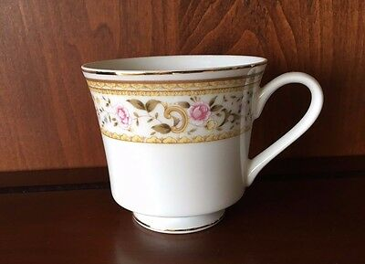 Wallace Heritage Footed Coffee Cup in Daphne Design Porcelain China Japan 110244